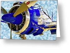 Airplane Propeller And Engine T28 Trojan 02 Greeting Card