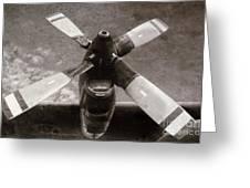 Dakota Airplane Propeller  Greeting Card