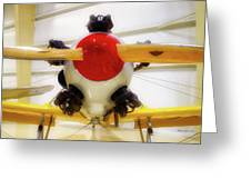 Airplane Wooden Propeller And Engine Pt 22 Recruit 02 Greeting Card