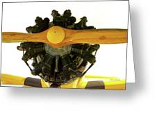 Airplane Wooden Propeller And Engine Timm N2t-1 Tutor Greeting Card