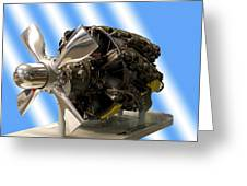 Airplanes Prop And Engine Greeting Card