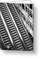 Airport Architecture Escalator Movement Greeting Card