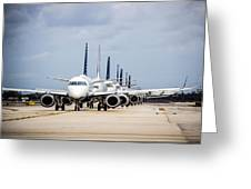 Airport Runway Stacked Up Greeting Card