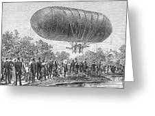 Airship Ascent, 1883 Greeting Card