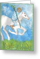 Airy Knight Of Wands Greeting Card