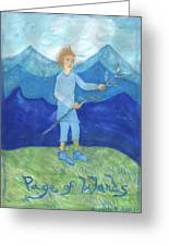 Airy Page Of Wands Greeting Card