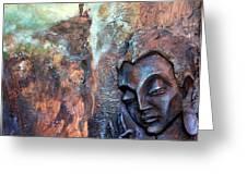 Ajanta Buddha Greeting Card