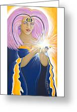 Ajna Third Chakra Goddess Greeting Card