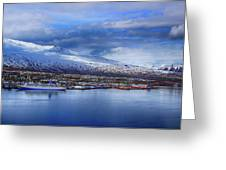Akureyri Port Greeting Card