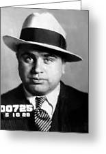 Al Capone Mugshot Painterly Greeting Card