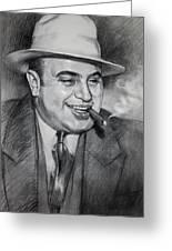 Al Capone Greeting Card by Ylli Haruni