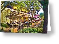 Al Fresco Dining Greeting Card by Chuck Staley