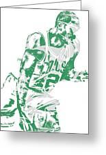 Al Horford Boston Celtics Pixel Art 5 Greeting Card