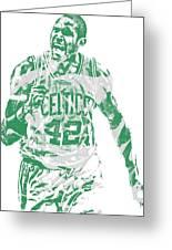 Al Horford Boston Celtics Pixel Art 7 Greeting Card