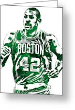 Al Horford Boston Celtics Pixel Art Greeting Card