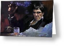 Al Pacino Snow Greeting Card by Ylli Haruni