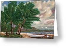ala moana beach II Greeting Card