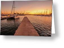 Ala Wai Harbor Sunset Greeting Card