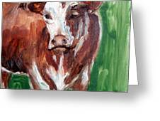 Alabama Cow Greeting Card