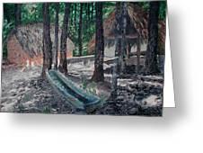 Alabama Creek Indian Village Greeting Card