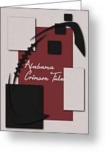 Alabama Crimson Tide Art Greeting Card