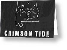 Alabama Crimson Tide / Ncaa College Football Art / Tuscaloosa Greeting Card by Damon Gray