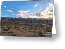 Alabama Hills Sunset  Greeting Card