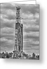 Alabama Oil Production In Black And White Greeting Card