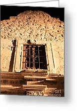 Alamo Night Window Greeting Card