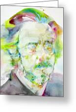 Alan Watts - Watercolor Portrait.3 Greeting Card