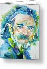 Alan Watts - Watercolor Portrait.4 Greeting Card