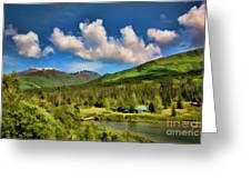 Alaska Digital Paint Greeting Card