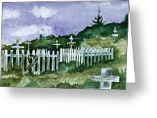 Alaska Graveyard  Greeting Card
