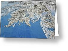 Alaska Map Wall Art Greeting Card