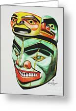 Alaska Masks Greeting Card