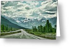 Alaska On The Road  Greeting Card