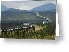 Alaska Pipeline Heading South Thru Greeting Card
