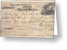 Alaska Purchase: Check Greeting Card