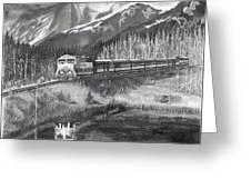 Alaska Railroad Near Whittier Greeting Card