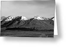 Alaska Range Left Panel Greeting Card