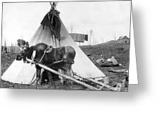 Alaska: Tepee, C1916 Greeting Card