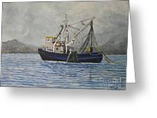 Alaskan Fishing Greeting Card by Reb Frost