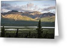 Alaskan Glacial Valley Greeting Card