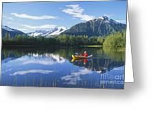 Alaskan Kayaker Greeting Card