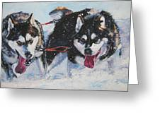 Alaskan Malamute Strong And Steady Greeting Card