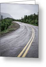 Alaskan Road Greeting Card