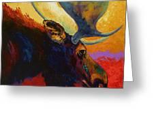 Alaskan Spirit - Moose Greeting Card by Marion Rose