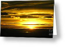 Alaskan Sunset Greeting Card
