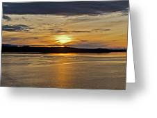 Alaskan Sunset Greeting Card