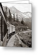 Alaskan Train Greeting Card by Will Edwards